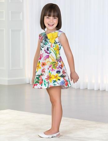 Rochie eleganta fete , imprimeu floral, Abel&Lula1