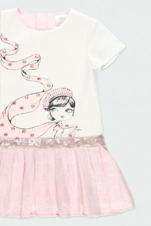 Rochie eleganta , imprimeu fetita, paiete, roz, Boboli2