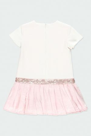 Rochie eleganta , imprimeu fetita, paiete, roz, Boboli3