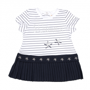 Rochie fetite din jersey, imprimeu stelute, Babybol1