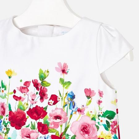 Rochie imprimeu flori, Mayoral , rosu3