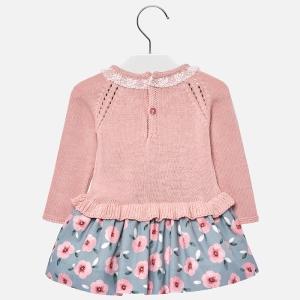 Rochie tricot combinat fetita Mayoral1