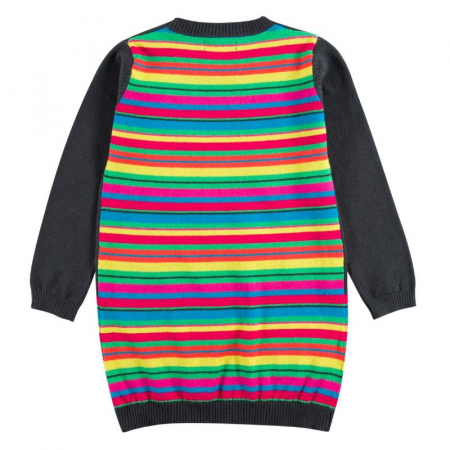 Rochie tricot cu buline multicolor, gri, Boboli [1]