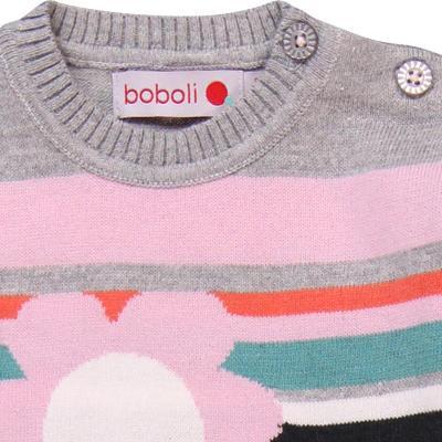 Rochie tricot cu flori Boboli2