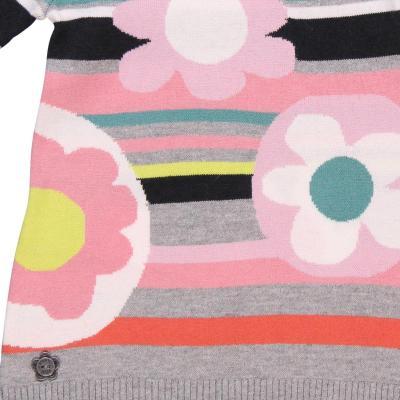 Rochie tricot cu flori Boboli3