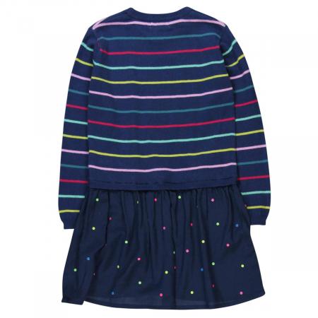 Rochie tricot cu fusta vascoza, navy, Boboli1