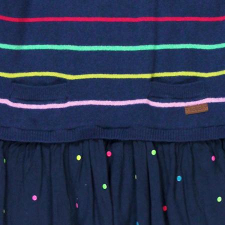Rochie tricot cu fusta vascoza, navy, Boboli2