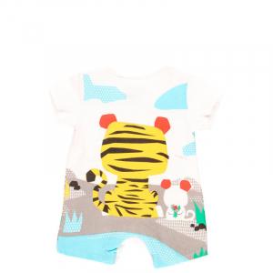 Salopeta bebe baiat, animal print, Boboli1