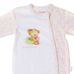 Salopeta bebe fetita, imprimeu ursulet dansator, Babybol1