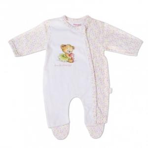 Salopeta bebe fetita, imprimeu ursulet dansator, Babybol0