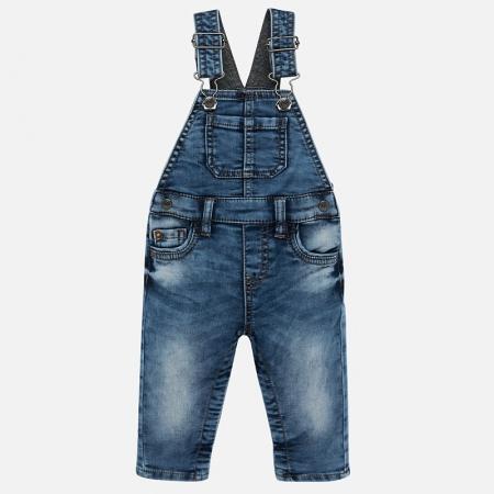 Salopeta lunga jeans bebe baiat Mayoral0