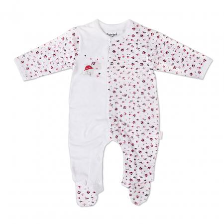 Salopeta nou nascut fetita, imprimeu floricele,Babybol0