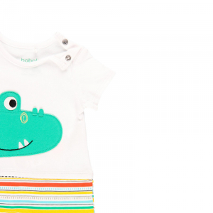 Salopeta vara bebe baiat, multicolor, Boboli2