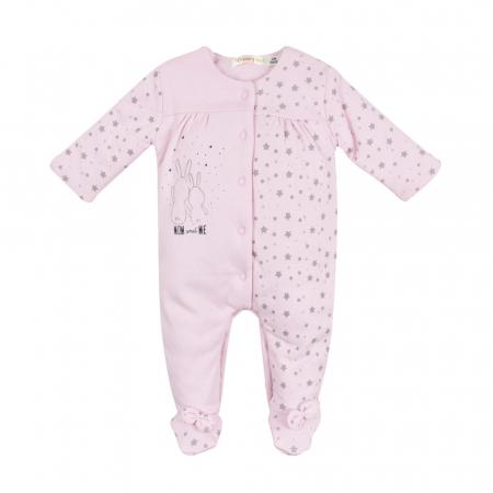 Salopeta vatuita bebe fetita, roz, Babybol0