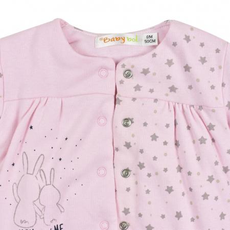 Salopeta vatuita bebe fetita, roz, Babybol2