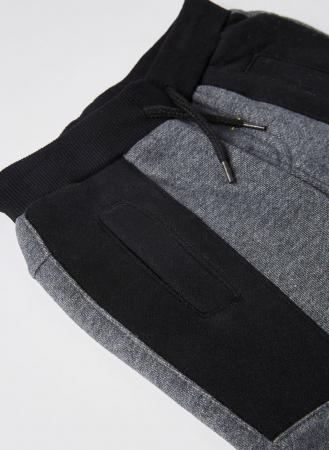 Set baieti, tricou  maneca lunga cu pantalon vatuit gri, Boboli3