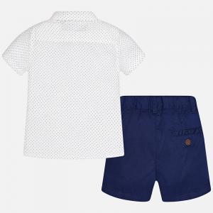 Set camasa si pantalon scurt navy Mayoral1