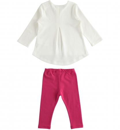 Set tricou maneca lunga si colant roz, iDO1