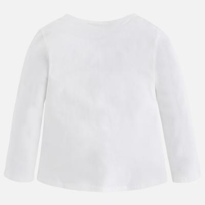 Tricou alb cu imprimeu bufntia Mayoral1