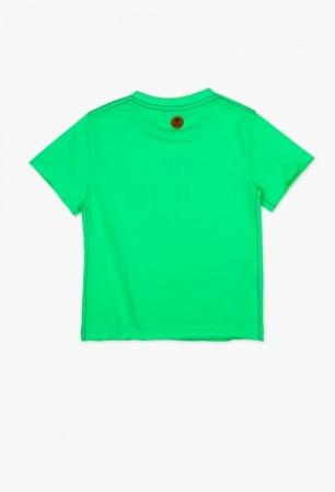 Tricou baiat cu maneca scurta verde Boboli1