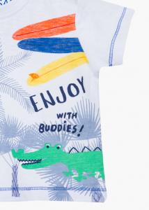 Tricou bebe baiat vara, imprimeu palmieri, LOSAN2