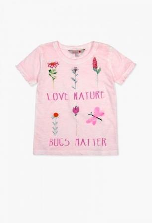 Tricou fete 4-14ani Boboli cu maneca scurta, roz0