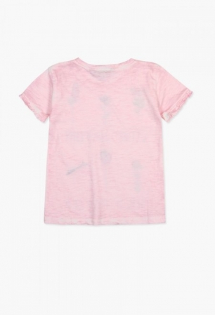 Tricou fete 4-14ani Boboli cu maneca scurta, roz1