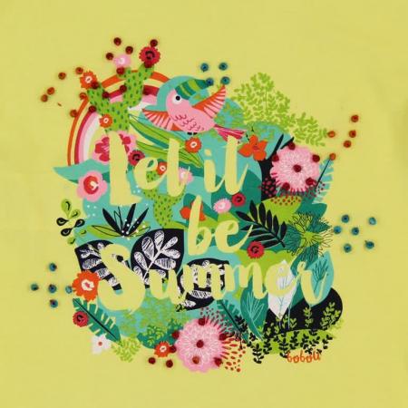 Tricou fete cu maneca scurta imprimeu floral ,Boboli3