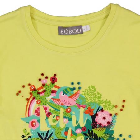 Tricou fete cu maneca scurta imprimeu floral ,Boboli2