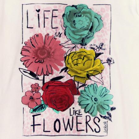 Tricou fete maneca lunga Boboli, imprimeu floral3