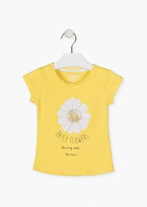 Tricou fete maneca scurta,floare soarelui, Losan [0]