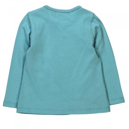 Tricou fetite 3-24 luni, turcoaz, imprimeu floral, Boboli [1]