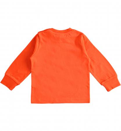 Tricou maneca lunga baiat,orange,iDO1