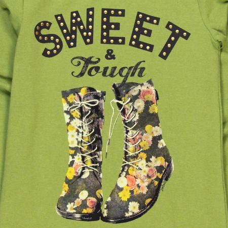 Tricou maneca lunga fete, sweet, verde, Boboli [3]