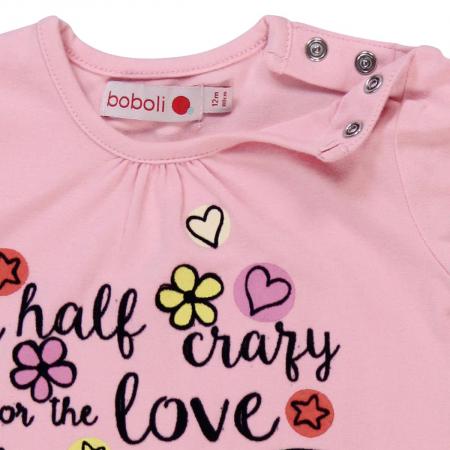 Tricou maneca lunga fetite Boboli, roz3