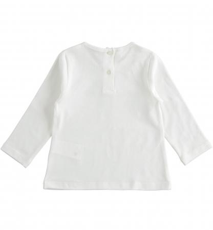 Tricou maneca lunga fetite, print gliterat, iDO1