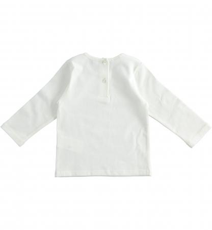 Tricou maneca lunga fetite ,print grafic , strasuri aplicate, iDO1
