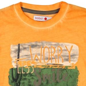 Tricou maneca scurta baiat orange Boboli2