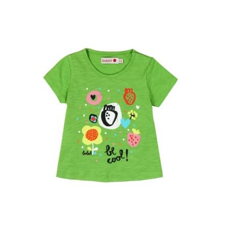 Tricou verde fetite cu imprimeu, Boboli0