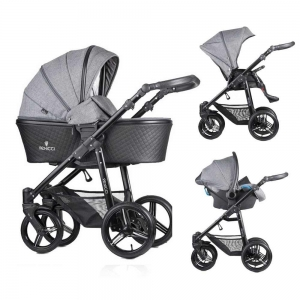 Carucior 3 in 1 Venicci Editie Speciala Shadow Grey0