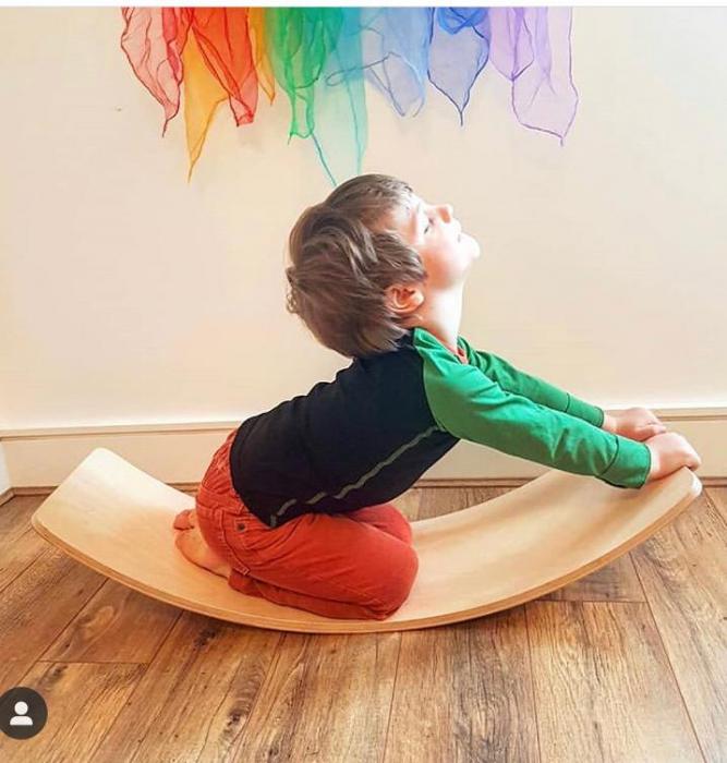 Placa echilibru cu margini colorate, Balance Board 4