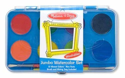 Acuarele Jumbo set de 8 culori cu pensula Melissa and Doug 1