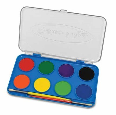 Acuarele Jumbo set de 8 culori cu pensula Melissa and Doug 0