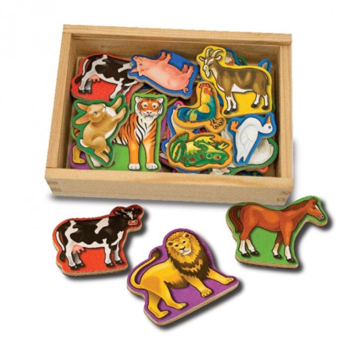 Animale de lemn cu magneti Melissa and Doug 1