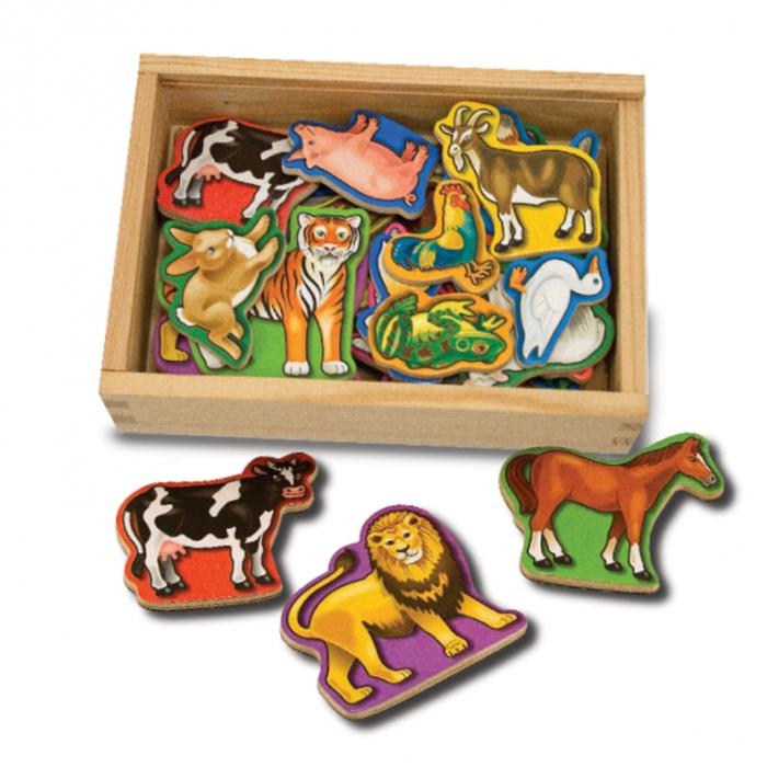 Animale de lemn cu magneti Melissa and Doug 0