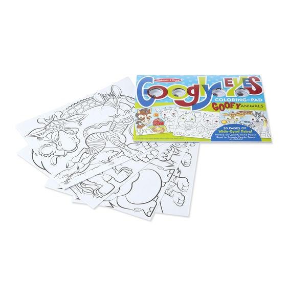 Bloc cu desene de colorat Animale Caraghioase Melissa and Doug 0