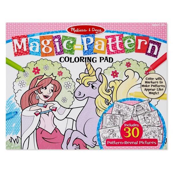 Bloc de colorat modele magice Roz - Melissa and Doug 1