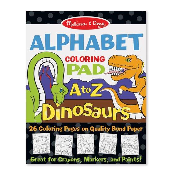 Bloc de desent Alfabetul dinozaurilor - Melissa & Doug 1
