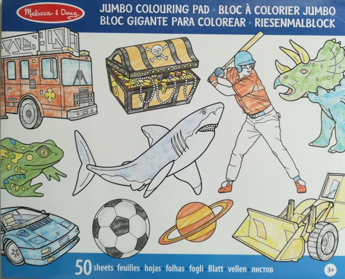 Caiet jumbo cu desene pentru colorat Melissa and Doug Albastru 1