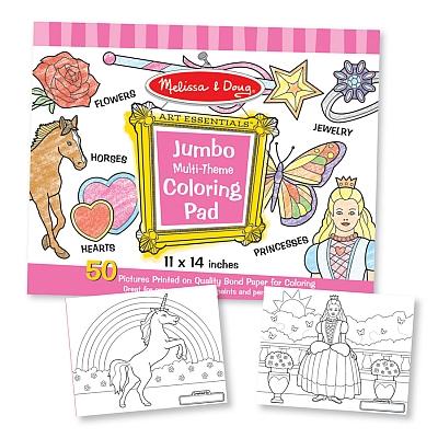 Caiet jumbo cu desene pentru colorat Melissa and Doug Roz 0